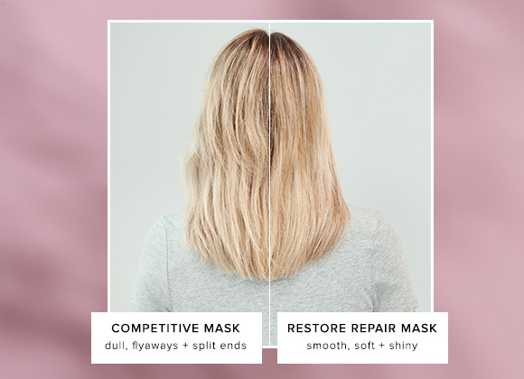 Restore Repair Mask vs. Competitor Mask