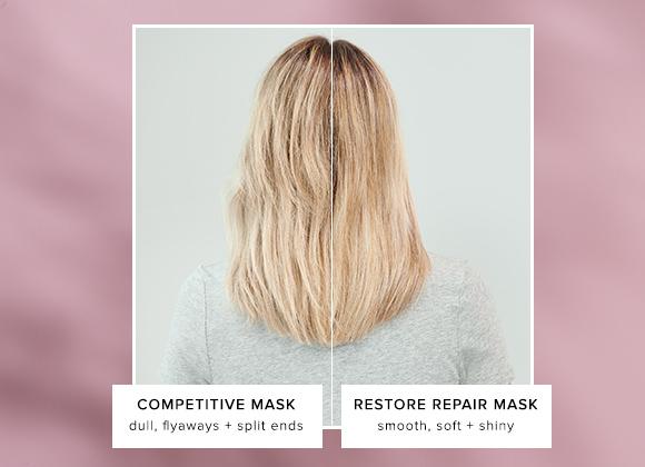 Restore Repair Mask vs. Competitor Mask