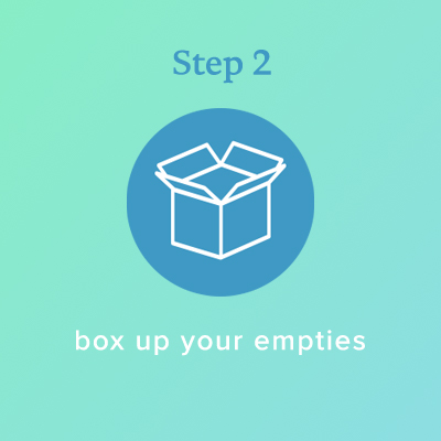 Step 2: Box up your empties